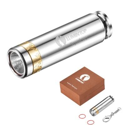 Lumintop Torpedo 007 520 Lumens Luxury EDC Flashlight, CREE XP-L V5 LED, Stainless, 1 X CR123A Or 1 X RCR123A