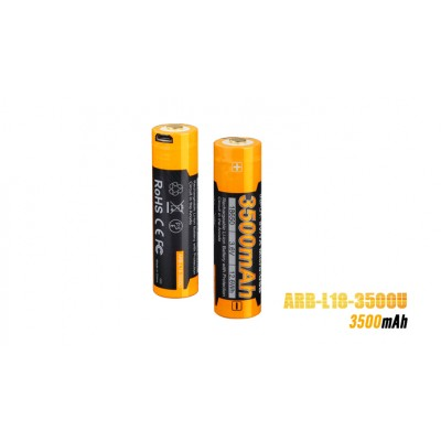 Fenix ARB-L18-3500U USB Rechargeable 3500mAh High-Capacity 18650 Battery