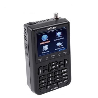 "Satlink WS-6908 3.5"" DVB-S FTA digital satellite meter satellite finder"