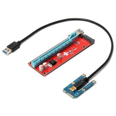 PCI-E 0.6m USB 3.0 Mini PCI-E Express 1x To 16x Extension Cable Extender Riser Card Adapter