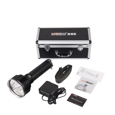 Acebeam X65 Searching and Rescuing LED flashlight,5*Cree XHP35 Hi LEDs,12000 lumens,Long range