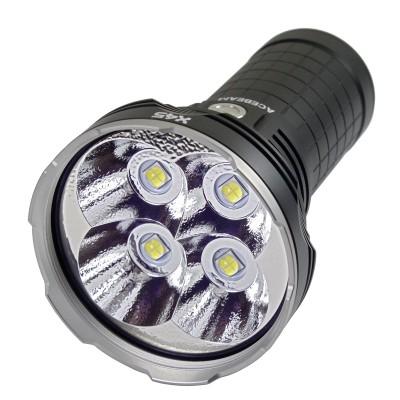 AceBeam X45 Flashlight,16500 lumens,4*Cree XHP70 LED,4*18650 battery