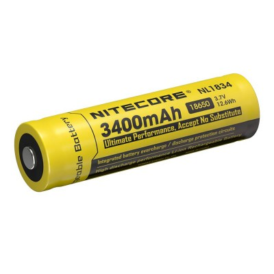 Nitecore NL1834 18650 Battery 3.7V 3400mAh Protected Li-ion Battery(1pc)