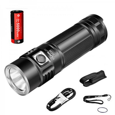 Klarus G20 Dual-switch Mini Search LED Flashlight ,3000 Lumen,CREE XHP70 N4 LED, 5000mAh 26650 Battery,USB rechargeable