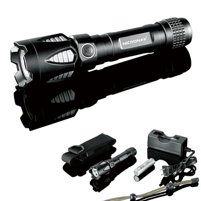 Nicron G80 Tactical LED Flashlight , 450Lumens, CREE XML-T6, Comes with battery and charger