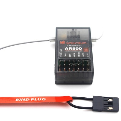 AR500 2.4GHz 5 Channel DSM2 Full Range Receiver for Helicopters for Spektrum