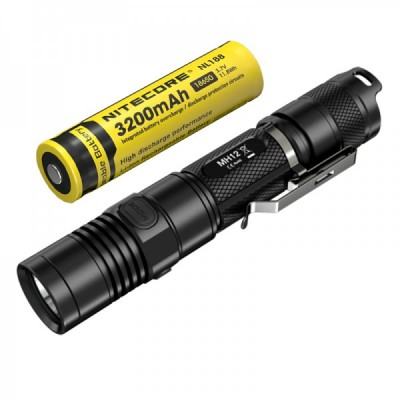 Nitecore MH12 USB Rechargeable Tactical Flashlight, With 18650 battery