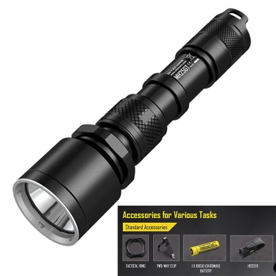 Nitecore MH25GT USB Rechargeable LED Flashlight, 1000 Lumens, 452M Beam Distance, Comes with one rechargable 18650 battery