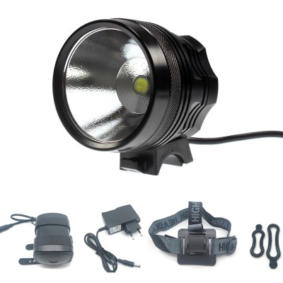 Cree XHP70.2 3500Lumen Bicycle Headlight Bike Front Light with Rechargeable Waterproof Battery Pack and Charger