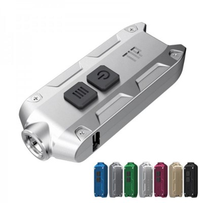 Nitecore TIP Keychain LED Flashlight, 360 Lumens, CREE XP-G2 S3 LED, USB Rechargeable