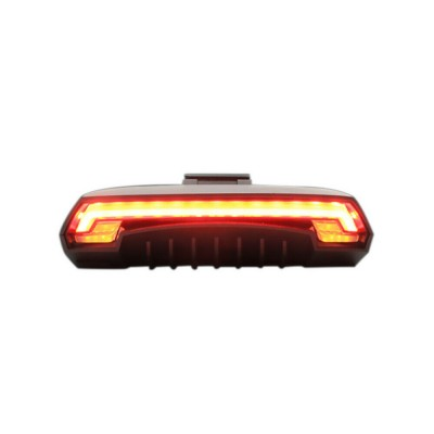 RC Wireless Bike Bicycle Laser LED Tail Lamp Turn Signal Light Recharge