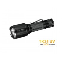 Fenix TK25 UV LED flashlight, dual light source 1000 lumens