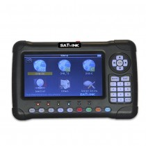 Satlink WS-6980 Digital Satellite Finder Meter 7inch HD LCD DVB-S2&DVB-T/T2&DVB-C Combo Finder with Spectrum Analyzer constellation