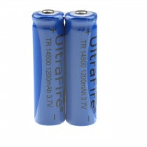UltraFire TR 14500 1200mAh 3.7V Rechargeable Unprotected Li-ion Battery(2 Pack)
