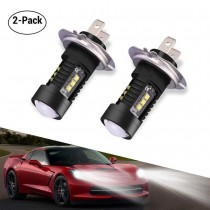 2*H7 LED headlight bulbs daytime running lights 60w 6000K