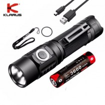 Klarus G10 LED Flashlight, mini USB charging + Battery