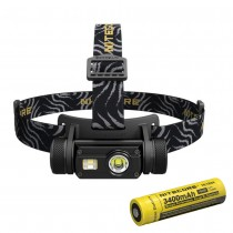 NITECORE HC65 White Red High CRI Three LED Headlamp+Battery