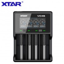 XTAR VC4S USB Battery Charger QC 3.0 LCD 4Batteries Li-ion Ni-MH Battery Charger