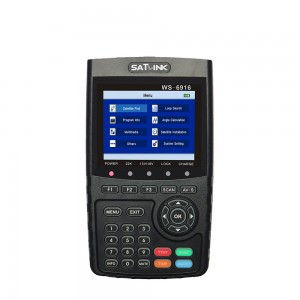 Satlink WS-6916 Satellite Finder DVB-S2 MPEG-2/MPEG-4 High Definition Satellite meter TFT LCD Screen
