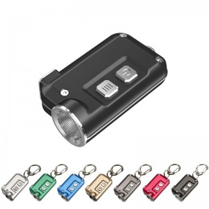 Nitecore TINI Mini Key Chain Flashlight, USB charging battery